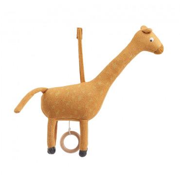 Mobile musical Angela - Girafe mustard