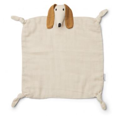 Doudou carré Agnete - Dog sandy