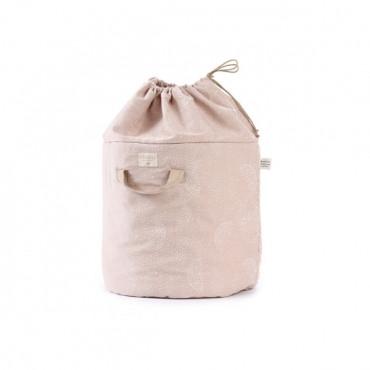 Panier de rangement Bamboo - White bubble/Misty pink