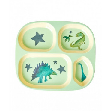 Assiette compartimentée mélamine - Dinosaurs