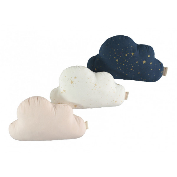 Coussin Cloud - Gold stella white