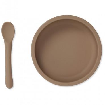 Set cuillère et bol avec ventouse en silicone - Bark