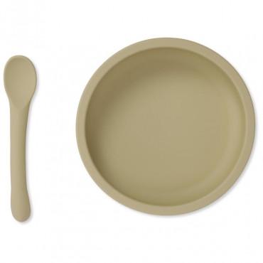 Set cuillère et bol avec ventouse en silicone - Limonade