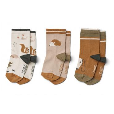 Lot de 3 paires de chaussettes Silas - Friendship sandy mix