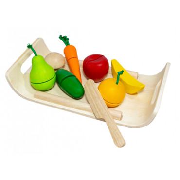 Plateau de fruits et légumes assortis