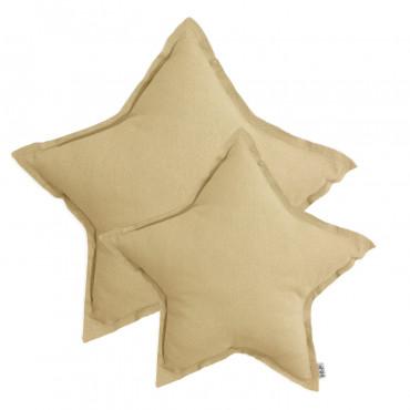 Coussin coton étoile pastel - Mellow yellow