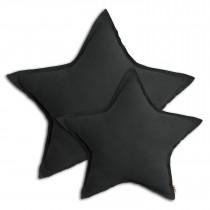 Coussin coton bio étoile pastel - Dark grey (DS021)