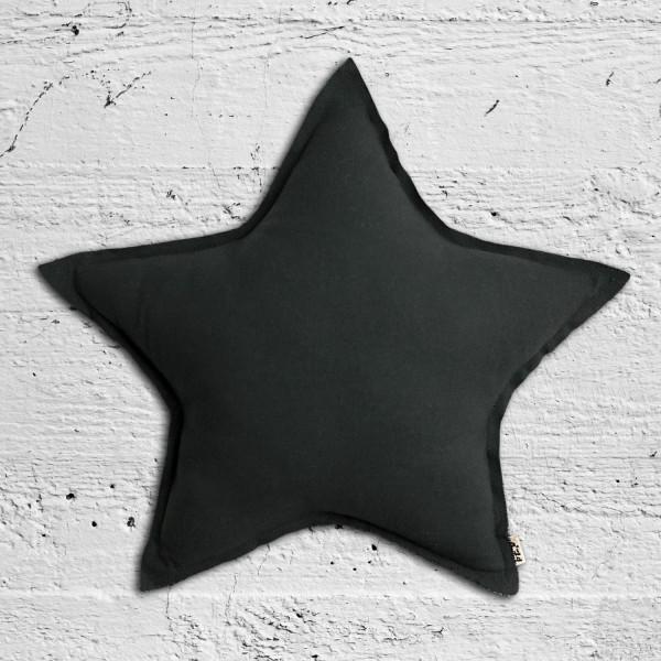 Coussin coton étoile pastel - Dark grey (DS21)