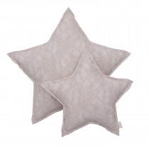 Coussin étoile dentelle Flower Lace - Poudre (DS018)