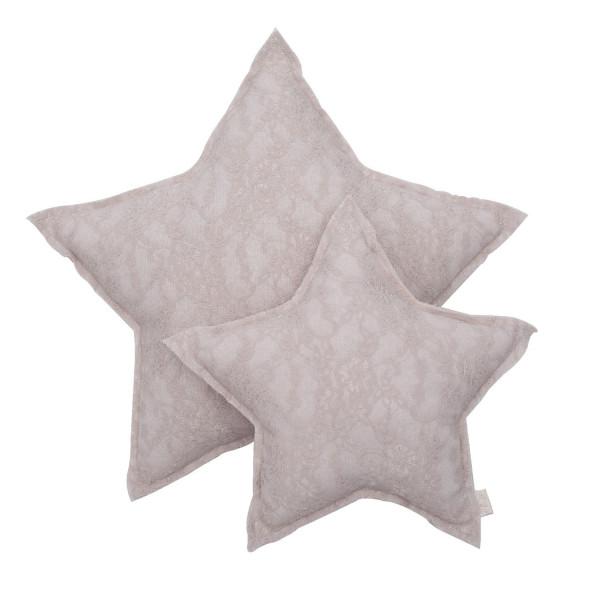 Coussin étoile dentelle Flower Lace - Poudre (DS18)