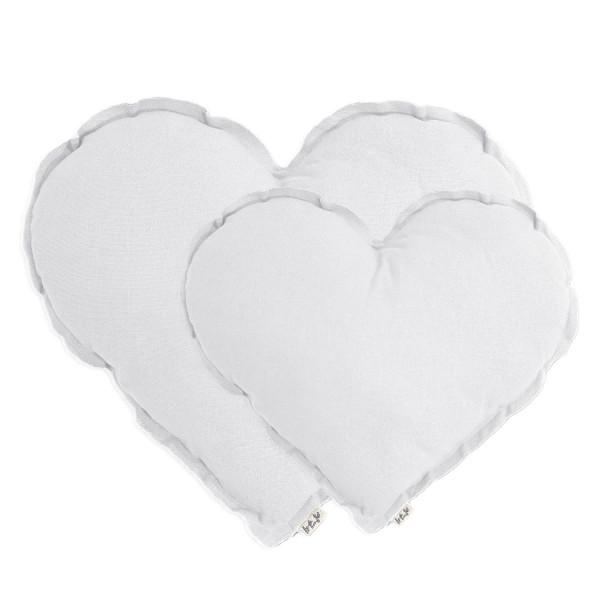 Coussin coeur en coton - Blanc (DS001)