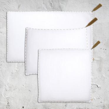 Housse de coussin uni rectangle 40x70 - Blanc (DS001)