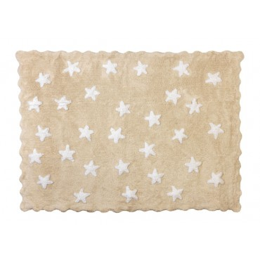 Tapis petites étoiles pleines - beige