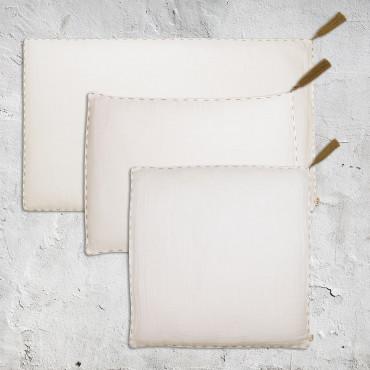 Housse de coussin uni rectangle 40x70 - Naturel (DS000)