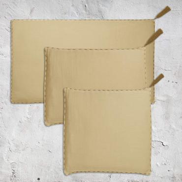 Housse de coussin uni rectangle 40x70 - Mellow yellow (DS048)