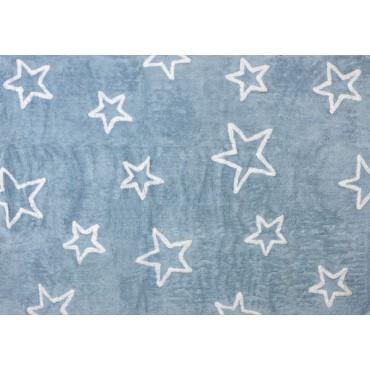 Tapis petites étoiles - bleu