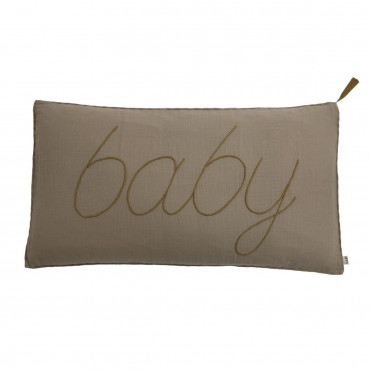 Coussin rectangle 40x70 Message Beige Taupe (DS003), Baby