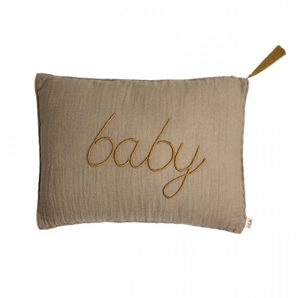 Coussin rectangle 30x40 Message Beige Taupe (DS003), Baby