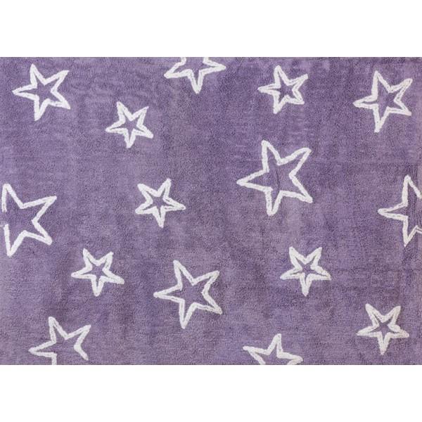 Tapis petites étoiles - violet