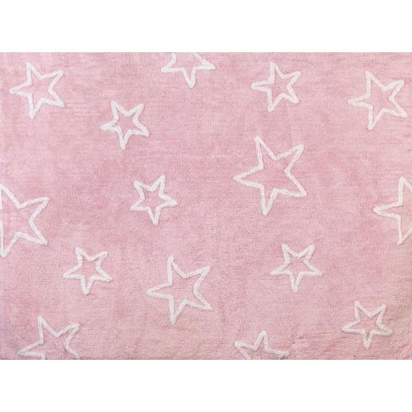 Tapis petites étoiles - rose