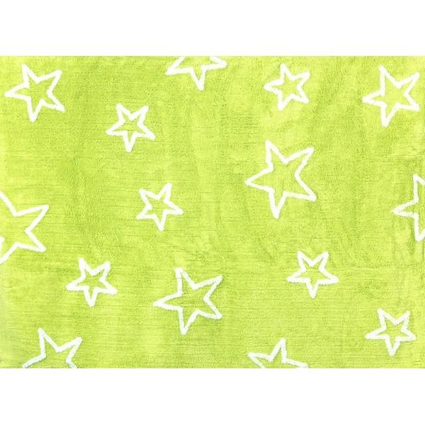 Tapis petites étoiles - vert