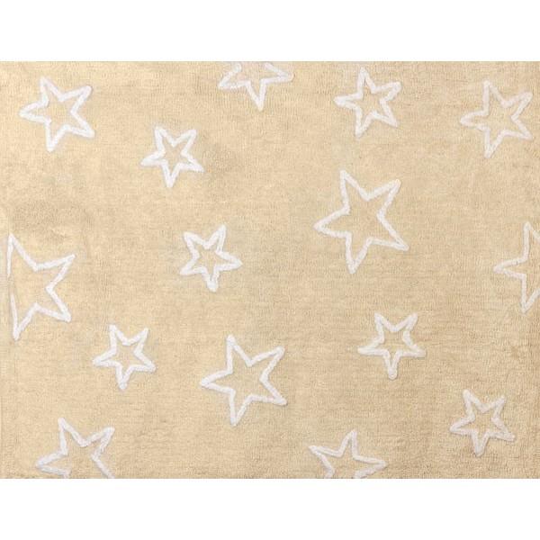 Tapis petites étoiles - beige