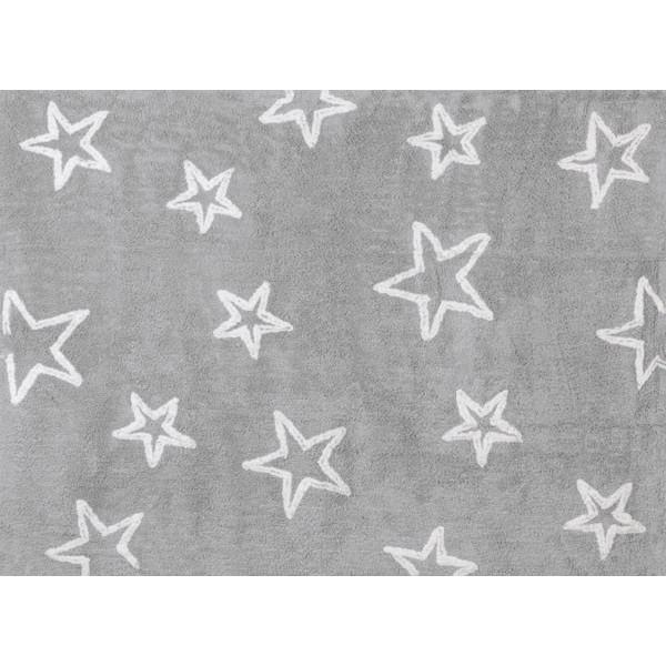 Tapis petites étoiles - gris