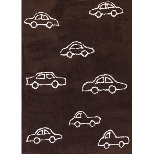 Tapis petites voitures - marron