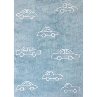 Tapis petites voitures - bleu