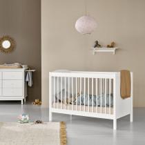Lit bébé évolutif Seaside Lille + - Blanc