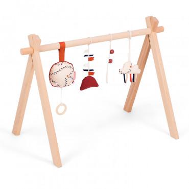 Arche d'éveil en bois avec coussin musical - Martin