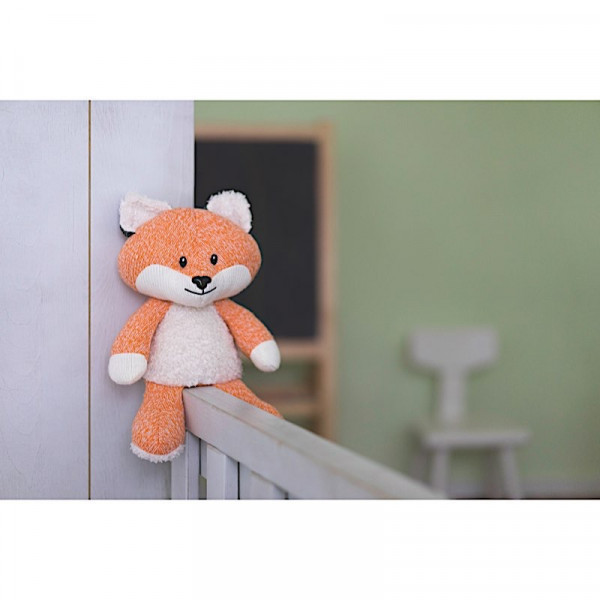 Peluche renard bruit blanc - Orange