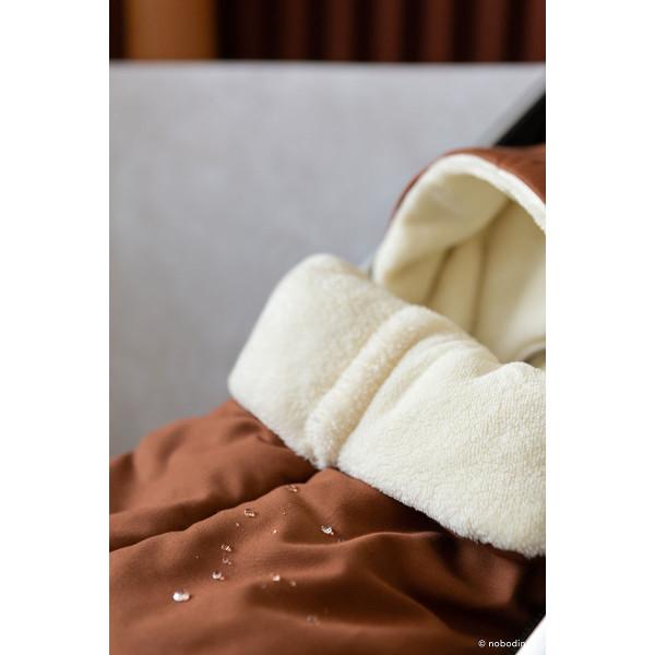 Chancelière imperméable Baby on the go - Clay brown