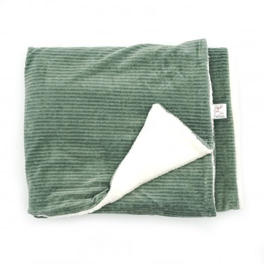 Couverture bébé en velours - Vert