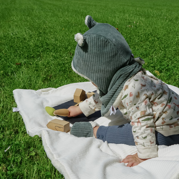 Bonnet polaire en velours - Vert