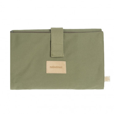 Tapis à langer imperméable Baby on the go - Olive green