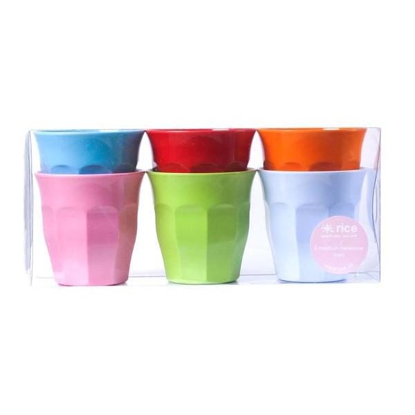 Lot de 6 petits verres couleurs - Fun