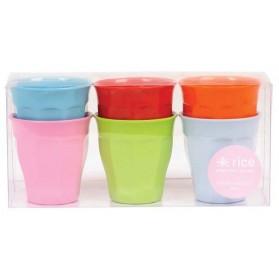 Lot de 6 verres moyens couleurs - Bright