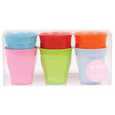 Lot de 6 verres moyens couleurs - Fun