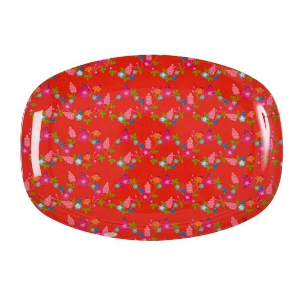Plateaux imprimés mélamine Framboises - rouge