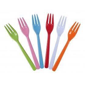 Lot de 6 fourchettes mélamine - Bright