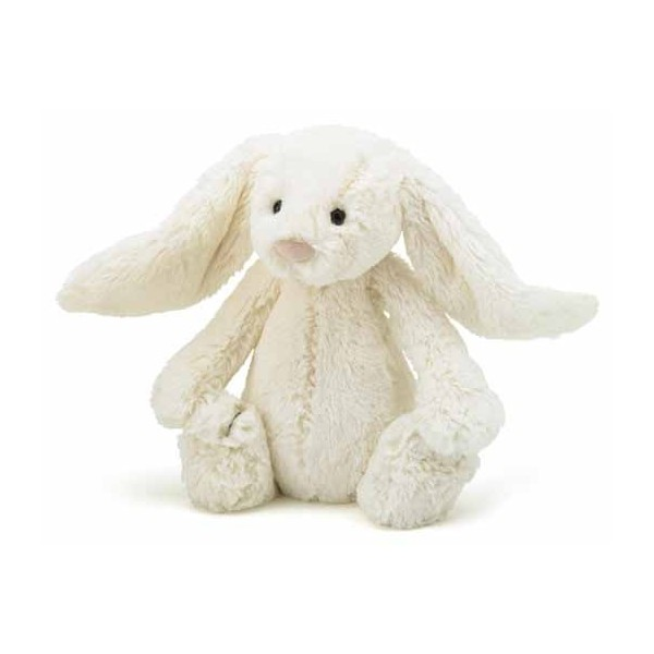 Peluche lapin - Bashful blanc medium