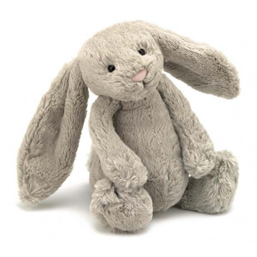 Peluche lapin - Bashful beige medium