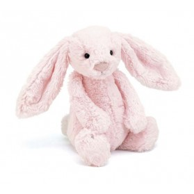 Peluche lapin - Bashful rose clair medium