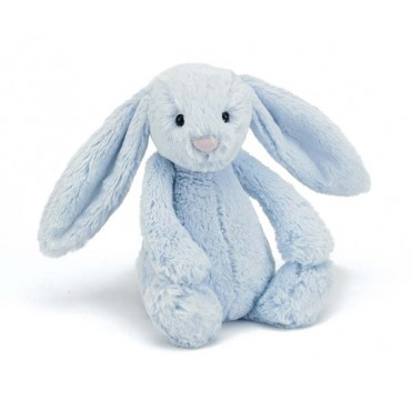 Peluche lapin - Bashful bleu medium