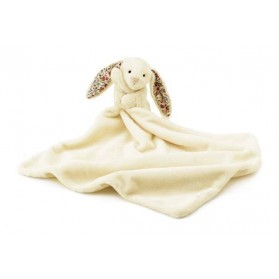 Doudou lapin liberty - Bashful blossom soother blanc