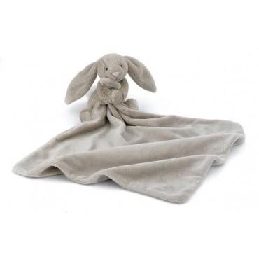 Doudou lapin beige - Blossom soother - déplié