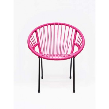 Chaise enfant Tica Scoubidou - rose