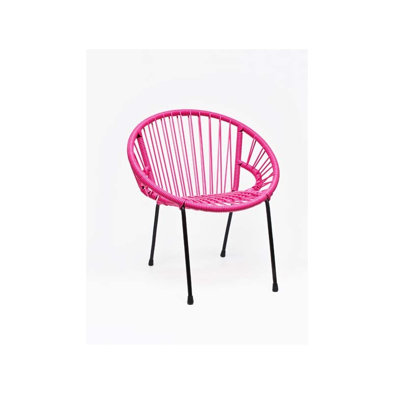 chaise enfant tica rose fluo le pestacle de ma lou. Black Bedroom Furniture Sets. Home Design Ideas