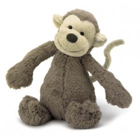 Peluche singe - Bashful marron
